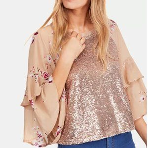 Free People Shimmy & Shake Sequined Top
